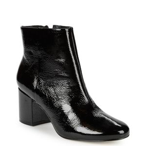NWT  RENVY BLACK PATENT LEATHER BOOTS